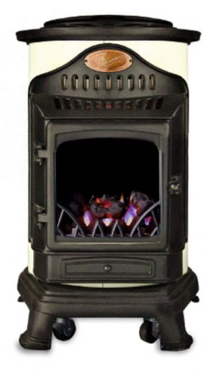 Cream Provence Portable Real Flame Calor Gas Heater